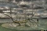 Viking ship sculpture Reykjavik Iceland IMG_2164__tonemapped