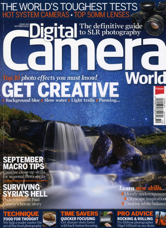 Digital Camera magazine cover Sparky gull orange gel image SMALL