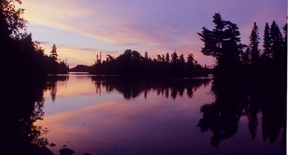 BWCAW lake sunrise BWW-105