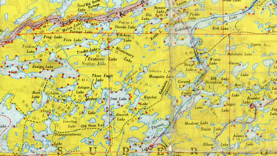 Old Fisher Map Boundary Waters BWCA Map SMALL The PhotoNaturalist - Bwca entry point map