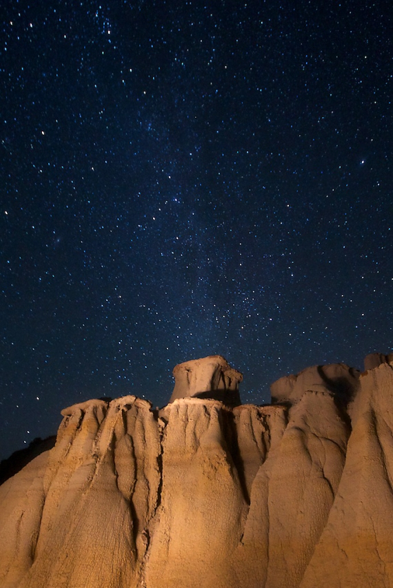 Night Sky Hoodoos Teddy Roosevelt National Park ND IMG_5950