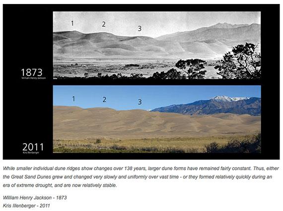 dunes Great Sand Dunes 1873-2011