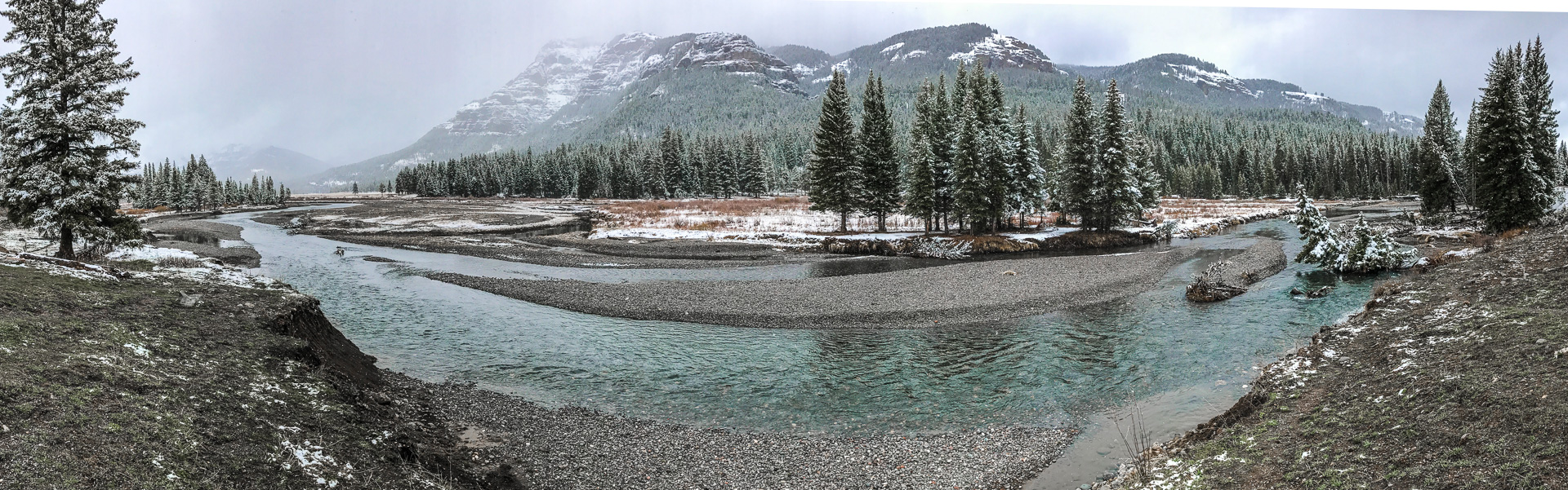Landscape Lamar River iPhone panorama Yellowstone National Park WY -6402